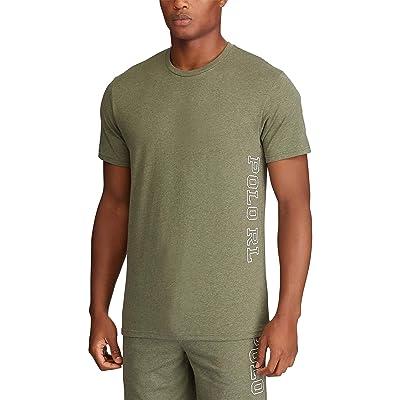 Polo Ralph Lauren Knit Jersey Short Sleeve Logo Crew (Moss Green Heather) Men