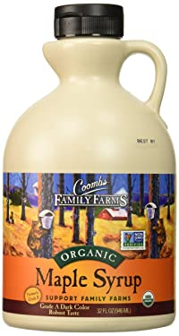 Coombs Family Farms Maple Syrup, Organic, Grade A, Dark Color, Robust Taste, 32 Fl Oz