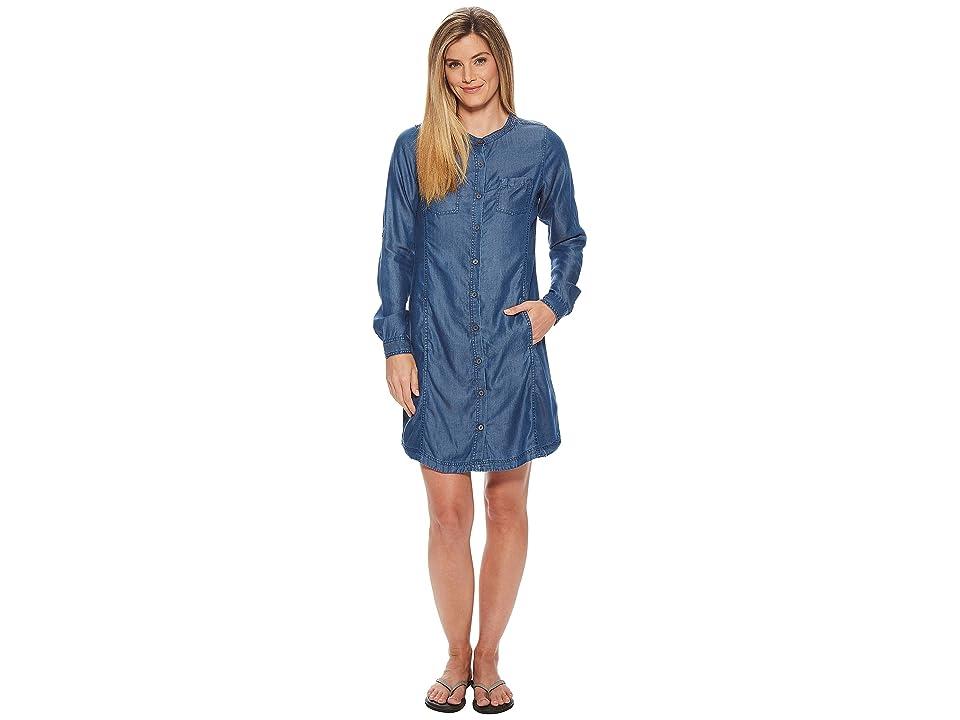 Prana Aliki Shirt Dress (Antique Blue) Women