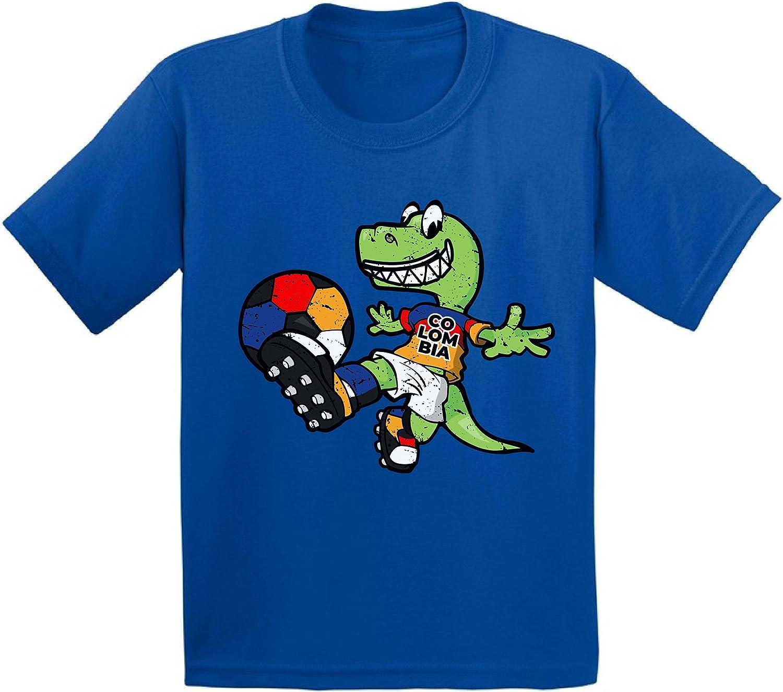 Awkward Styles Colombia Dinosaur Shirt Toddler Soccer Shirts Soccer Toddler Gift