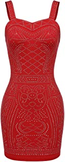 Beyove Women's Sequin Embellished Clubwear Bandage Bodycon Party Dress