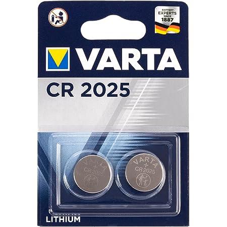 VARTA Batterien Electronics CR2025 Lithium Knopfzelle 3V Batterie 2er Pack Knopfzellen in Original 2er Blisterverpackung