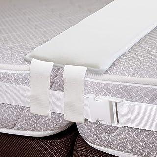VIVILINEN ulepszony most łóżka Twin to King Converter pianka z pamięcią kształtu wypełniacz i szeroki regulowany zestaw - ...