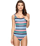 Tommy Bahama - Fete Stripe Laced Back One-Piece