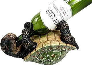 Ebros Drunken Coastal Sea Turtle Tortoise Wine Bottle Holder Caddy Figurine As Home Kitchen Wine Cellar Decorative Storage Organizer Wild Aquatic Animals Turtles Terrapins Tortoises Decor (1)