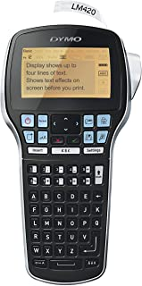 DYMO LabelManager Rechargeable Hand-Held Label Maker Machine LM 420P Black