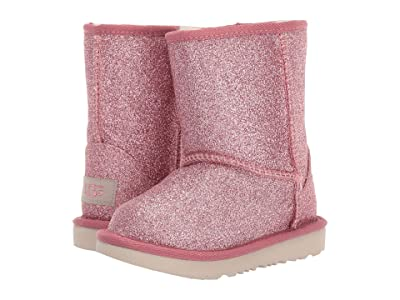 UGG Kids Classic Short II Glitter (Toddler/Little Kid) (Pink 1) Girls Shoes