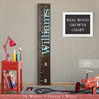 Wooden Kids Growth Chart Ruler for Boys and Girls Painted or Engraved (The Williams) Back40Life