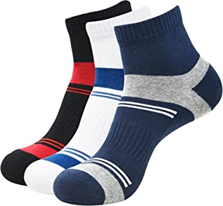 Balenzia Men s Cushioned High Ankle Sports Socks With Arch Support- Black, White, Navy (Pack of 3): Sports, Fitness & Outdoors