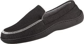 Isotoner Chandler Men's Moccasin Slippers, Memory Foam, Indoor/Outdoor Sole