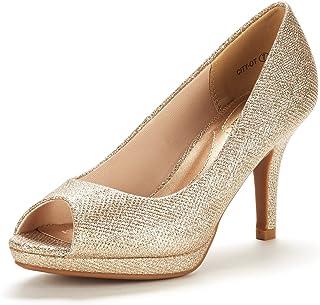 DREAM PAIRS Women's City_OT Fashion Stilettos Peep Toe Pumps Heels Shoes