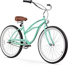 "Firmstrong Urban Lady 3-Speed 26"" Beach Cruiser Bicycle, Mint Green w/ Brown Seat"