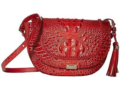 Brahmin Seneca Ella Crossbody (Lava) Cross Body Handbags