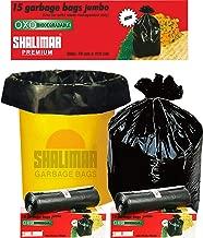 Shalimar Premium Garbage Bags (Jumbo) Size 76 cm x 112 cm 4 Rolls (60 Bags) (Black Color)