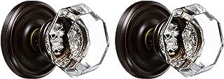 Best Emtek 8050-OT-US10B Old Town Clear Crystal Dummy Door Knob, Regular Rosette, Oil Rubbed Bronze, Set of 2 Review