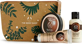 The Body Shop Nourishing Shea & Coconut Gift Pouch with nutty care treats made butter for dry skin