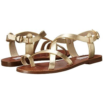 Steve Madden Agathist Sandal (Gold Leather) Women