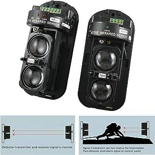 GuDoQi Rivelatore IR Attivo di Sicurezza a Doppia Raggi 100m Fotoelettrico Allarme di Sicurezza Domestica Sensore a Raggi ...