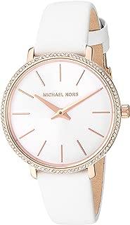 Michael Kors Women's Quartz Watch analog Display and Leather Strap, MK2802