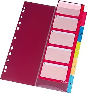 Herlitz 10913689onglet 1–5, 22,3x 29,7cm, PP, couleurs avec feuille index et perforés 1-5