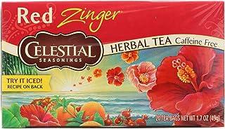 Celestial Seasonings Tea Caffeine Free Herbal Tea, Red Zinger 20 ea ( Packs of 6)