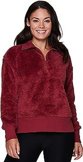 RBX Active Women's Fashion Super Soft Faux Fur Sherpa Mock Neck Pullover Sweatshirt