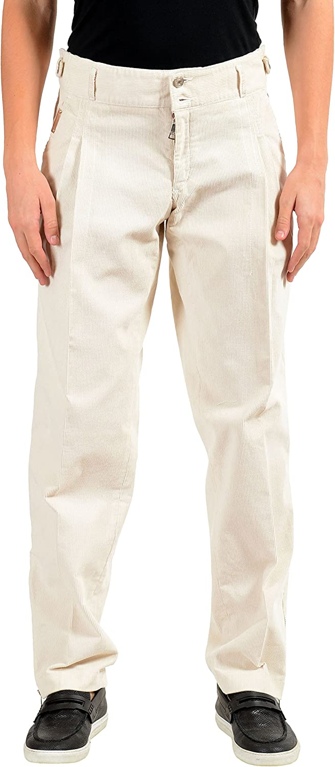 Credence Dolce Gabbana Men's Import Off White US Pants Casual Corduroy Pleated