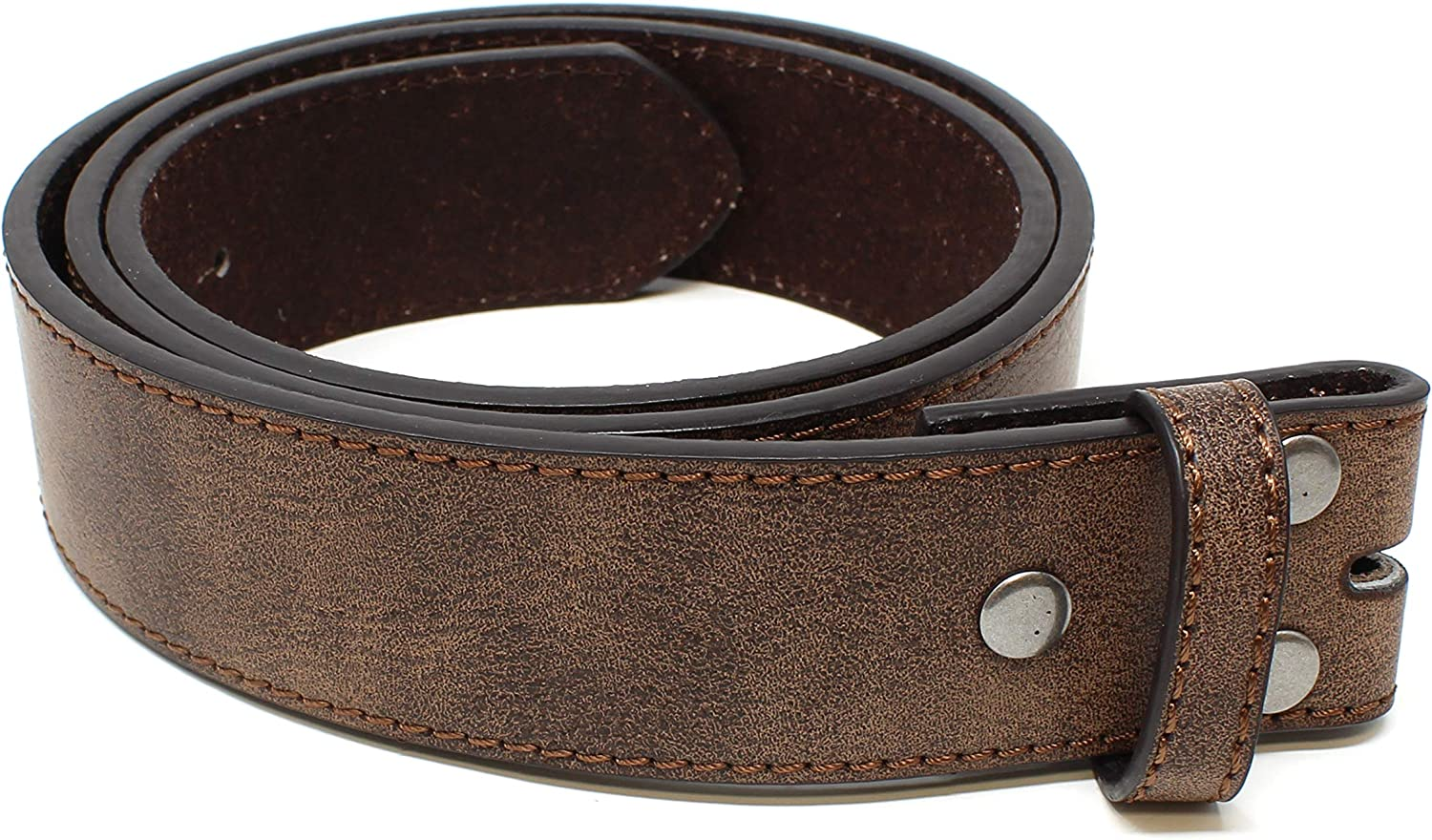 Leather Belt Strap with Vintage Distressed Texture 1.5