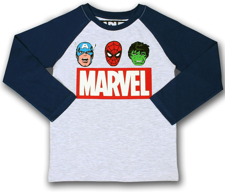 Marvel Boy's Heroes Pullover Long Sleeve Raglan Tee Shirt