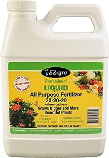 20 20 20 کود کود کامل کود غذایی و باغی است که E Z برای مخلوط کردن و E Z برای استفاده | کود مایعات EZ-gro یک کود محلول در آب غلیظ است | 1 کوارت (32 اونس)