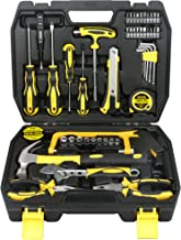 DOWELL 49 Piece Tool Set,Home Repair Hand Tool Kit with Plastic Tool Box Storage Case