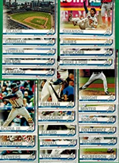 Atlanta Braves 2019 Topps Complete Mint Hand Collated 23 Card Team Set with Ozzie Albies and Ronald Ocuna Plus
