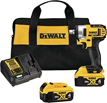 Dewalt 20v Max Cordless Impact Wrench Kit With Detent Pin 1 2 Inch Dcf880m2 Power Impact Wrenches Amazon Com