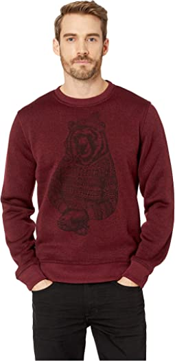 Fleece Bear Crew Neck Sweatshirt