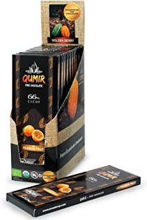 QUMIR Dark Chocolate | 12 Pack, FINE FLAVOR Cacao with Passion Fruit | made with amazon cacao beans | DISPLAY 29.64oz (Pack of 12 bars, 2.47oz each)