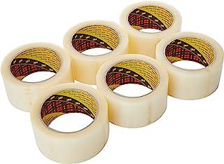 Flatpack de 6 Rubans d'Emballage Scotch 371, Transparent, 48 µm - 50mm X 66m
