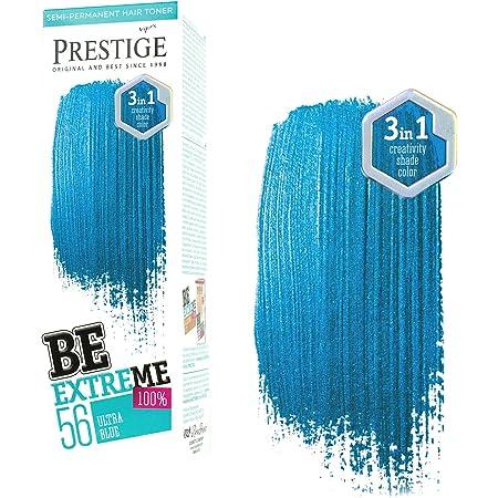 Vips Prestige Be Extreme Tóner Semi Permanente para Pelo, 56 Ultra Azul - Sin Amoniaco, Sin Parabenos y PPD