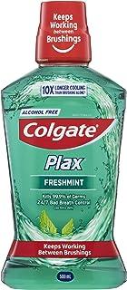 Colgate Plax Antibacterial Alcohol Free Bad Breath Control Mouthwash Freshmint, 500ml