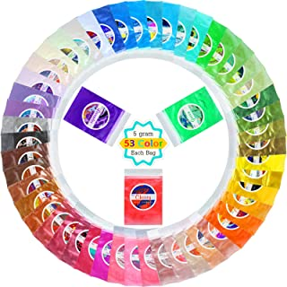 Mica Powder Pure 53 Color - Metallic Epoxy Resin Color Pigment - Cosmetic Grade Slime Coloring - Natural Soap Dye for Soap...