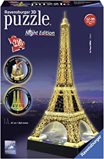 Ravensburger Eiffel Tower at Night 3D Puzzle 216pc,3D Puzzles