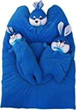 Amardeep and Co Bunny Mattress with Bolsters and Pillow (Blue) - mt-09blue