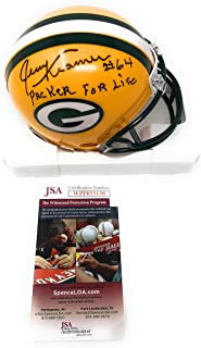 Jerry Kramer Green Bay Packers Signed Autograph Mini Helmet PACKER FOR LIFE Inscribed JSA Witnessed Certified