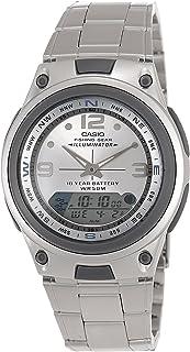 ساعة كاسيو للرجال شاشة انالوغ/رقمية سوار ستانلس ستيل - AW-82D-7AV