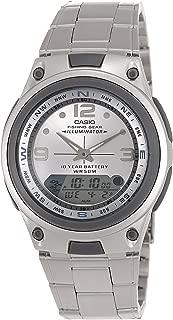 Casio Men's Analog/Digital Display Quartz Watch, Silver Stainless Steel Band, Round 40mm Case