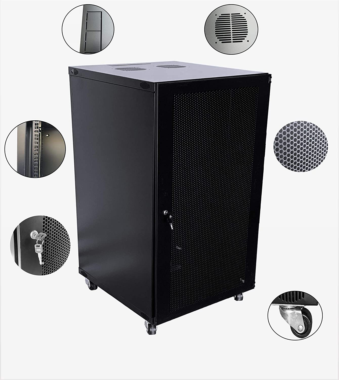 RAISING ELECTRONICS 15U 18U 22U Wall Mount Network Server Cabinet Rack Enclosure Ventilated Door Lock 600mm Deep (22U)