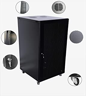 Raising Electronics 22U Wall Mount Network Server Cabinet Rack Enclosure Ventilated Door Lock 600mm Deep (22U)