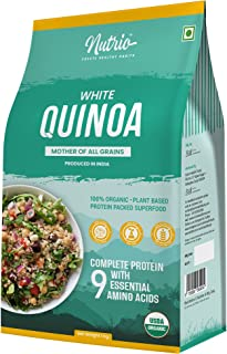 Nutrio 100% Organic Quinoa 1 kg (White) (Gluten Free/ Complete Plant Protein/ Enriched with Minerals/ Improves Gut Health)...