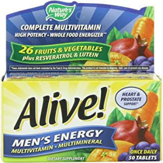 Nature's Way Alive! Men's Energy Multivitamin Multimineral - 50 tabs (PACK OF 2)