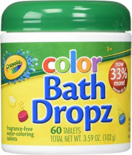 Toys & Child Play Visions Crayola Bath Dropz 3.59 oz,60 Tablets Model: by