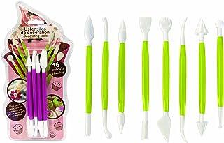 16 Ustensiles de décoration pour pâte à sucre - KP5077 - Lily Cook